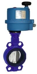 Absperrklappe, DVGW Gas, mit Elektroantrieb (24 V)
