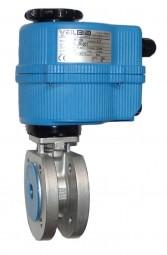 Kompakt-Flanschkugelhahn mit elektrischem Antrieb (24 V)