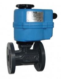 Grauguss-Flanschkugelhahn mit elektrischem Antrieb (24 V)