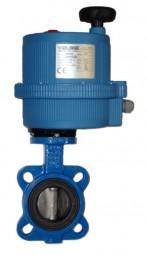 Absperrklappe mit Zentrieraugen und Elektroantrieb (230 V)